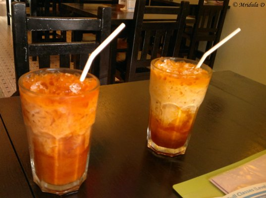 Thai Iced Tea with Milk at May Kaidee's, Bangkok