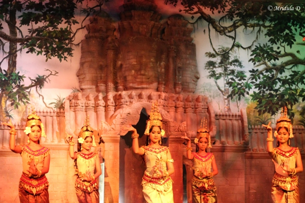 The Beautiful Ladies Performing the Apsara Dance, Siem Reap, Cambodia