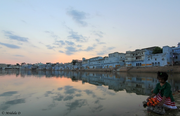 Pushkar at Sunset, Rajasthan, India