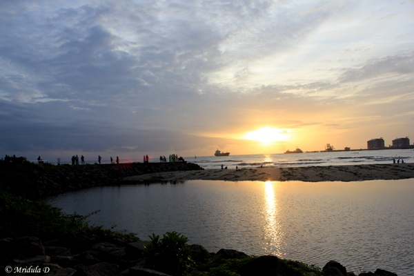 Sunset at Kochi, Kerala, India