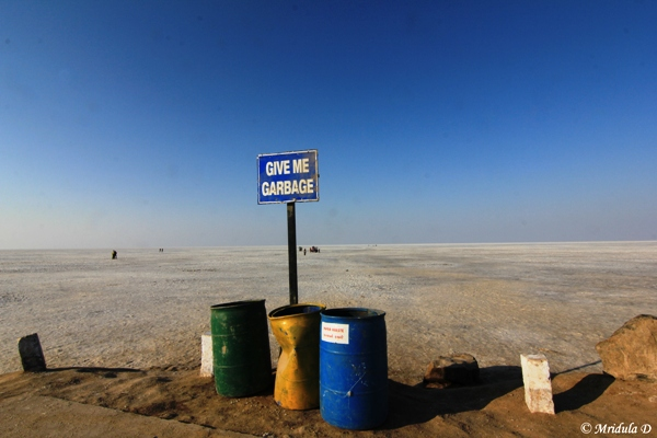Garbage Bins at Great Rann of Kutch
