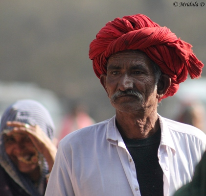 Red Rajasthani Turban