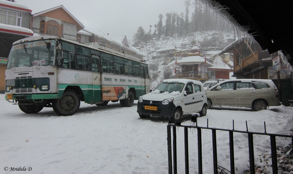 The Bus Stand, Narkanda, Himachal Pradesh