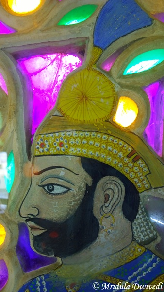 Details of a Painting, City Palace, Udaipur