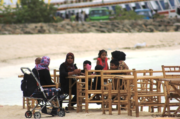A Local Family at Maafushi, Maldives