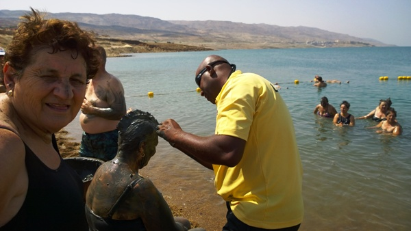Mud Art at Dead Sea, Jordan