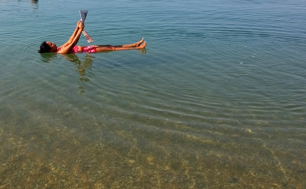 News Paper Time, Dead Sea, Jordan