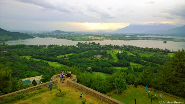 View of Srinagar from Pari Mahal