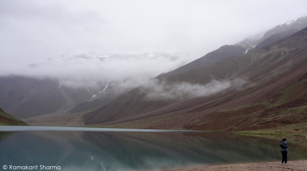 At the Chandratal Lake, Spiti