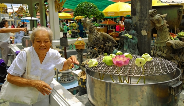 An Old Lady at the Grand Palace, Bangkok