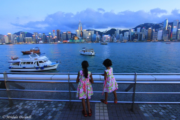 My Brats at the Victoria Harbor, Hong Kong