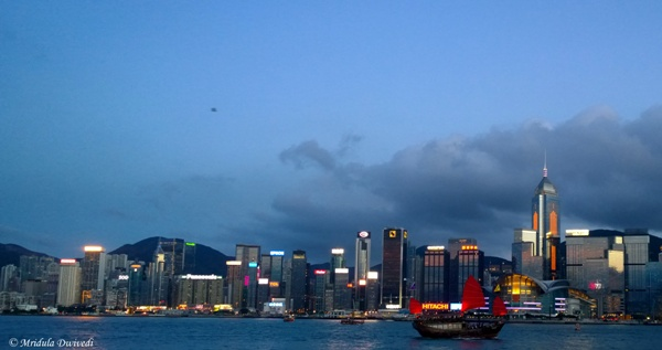 A Ship at the Victoria Harbor, Hong Kong
