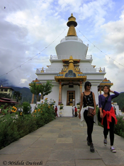 Girls at National Memorial Chorten, Thimphu, Bhutan