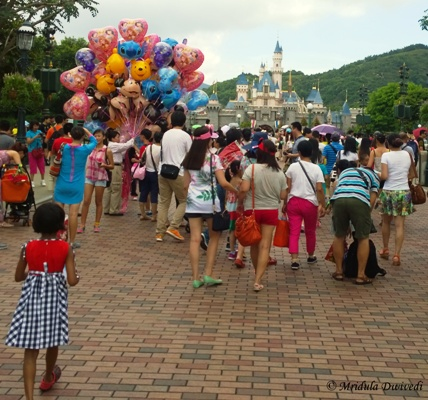 People at Disneyland Hong Kong