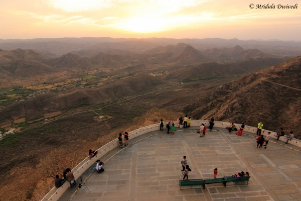 Sunset at Monsoon palace, Udaipur