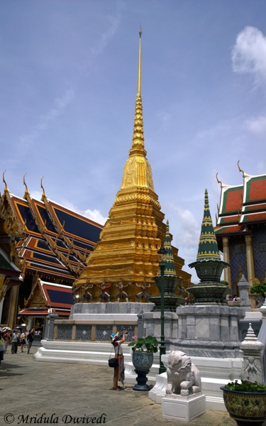 A Golden Pagoda, Grand Palace, Bangkok