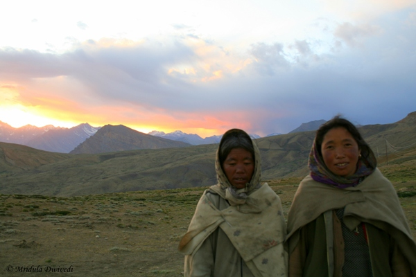 Women Going Home at Dusk, Spiti