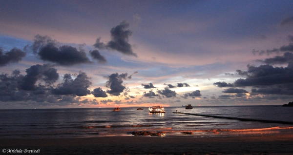 Dusk at Kantiang Bay Beach, Koh Lanta