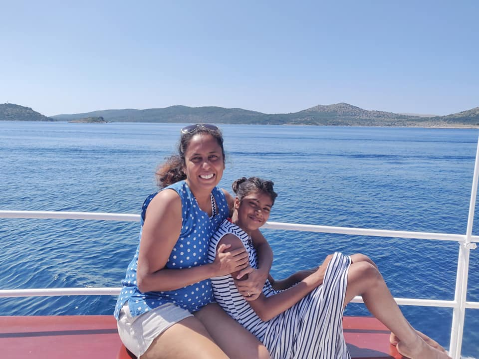 On the boat to the Telascica Nature Park in Croatia